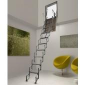 Scala retratile a parete in alluminio