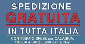 Spedizione scale gratuita in tutta Italia isole comprese